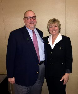 Dr. Benjamin Evans, president-elect of NJSNA (left) and Cynthia Clark, PhD, RN, ANEF, FAAN at the Institute for Nursing Research Dinner at the 114th Annual Convention