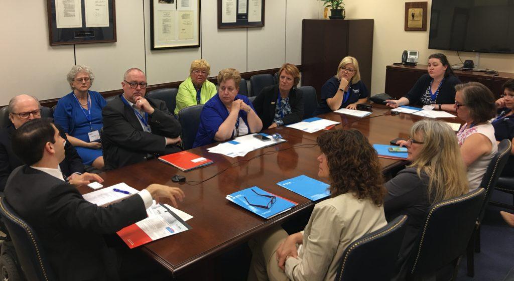 Nice New Jersey State Nurses Association Members Discuss Nursing Education  Funding With Senator Robert Menendezu0027s Staff