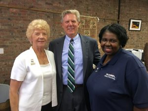 leanor Withington, New Jersey State Nurses Association Treasurer, Rep. Frank Pallone (D-6) and Norma Rodgers, New Jersey State Nurses Association president at a sit-in at his New Brunswick office.