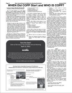 COPP January 2012 Article